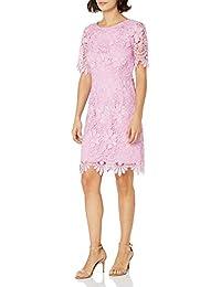 Women's Elbow Sleeve Lace Sheath Dress