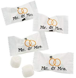 Wrapped Wedding Buttermints 108 Pc Bag (Mr and Mrs)]()