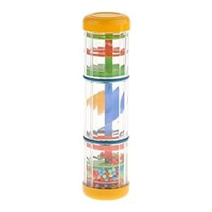 D DOLITY Portable Plastic Rainmaker Hand Tube Shaker Kids Percussion Rain Stick Toy