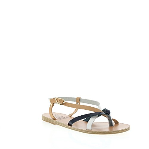 adf9f1694da60 Ancient Greek Sandals Beige-White-Blue Multi Colored Thong Sandal Size 37 -  Buy Online in Oman.