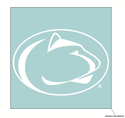 Wincraft NCAA Penn State University Nittany Lions 6 x 6 inch White Decal