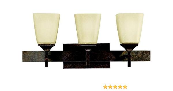 Kichler 5316MBZ Souldern Reversible Glass Wall Vanity 3 Light Marbled Bronze