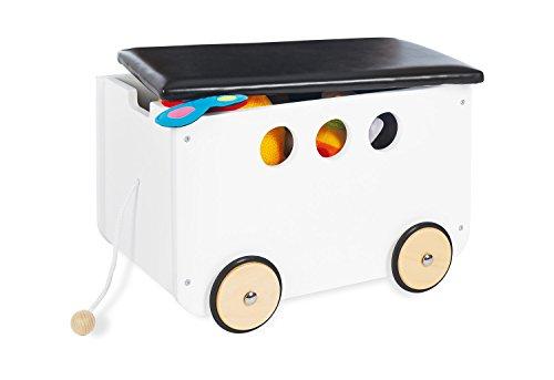 Pinolino 213490 juguete caja de plástico con ruedas (Jim, color blanco: Amazon.es: Bebé