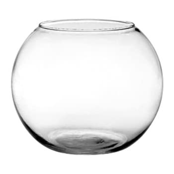Amazon Mega Vases 8 X 625 Bubble Fish Bowl Glass Vase