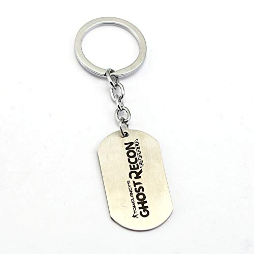 Value-Smart-Toys - New Ghost Recon Wildlands Keychain Dag Tag Key Ring Tom Clancy Key Holder Metal Alloy Key chain Men Jewelry Chaveiro favorite gifts