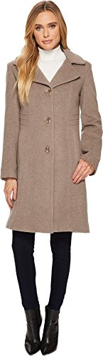 Anne Klein Women's 10% Cashmere Notch Collar Walker Taupe ()