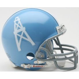 Houston Oilers 1960 to 1962 - NFL MINI Helmet (Oilers 1962 Houston)