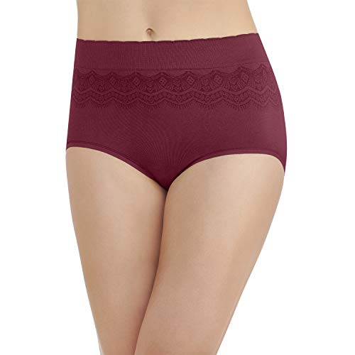 Vanity Fair Women's No No Pinch-No Show Seamless Brief Panty 13170, Speakeasy, Large/7 ()