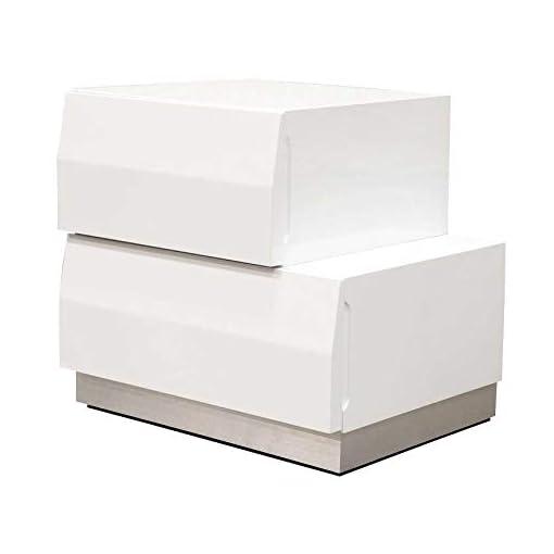Bedroom Best Master Furniture 5 pcs Modern Bedroom Set, Cal. King, White modern bedroom furniture sets