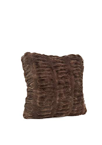 "Fabulous Furs: Faux Fur Luxury Pillow, Taupe Mink, Available in standard size 18""x18"" and Euro size 24""x24"", by Donna Salyers -  Donna Salyers' Fabulous Furs, 91675TAU"