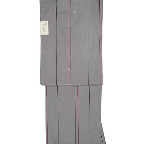 和道楽着物屋 洗える 単衣 着物 Lサイズ 木綿 グレー