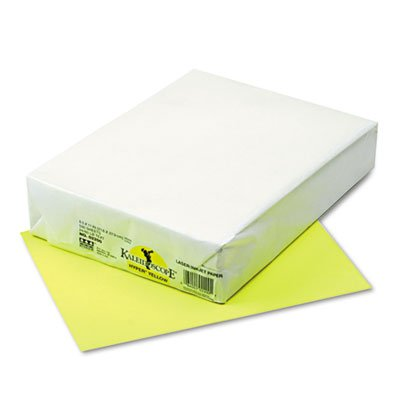 Kaleidoscope Multipurpose Colored Paper, 24lb, 8-1/2 x 11, Hyper Yellow, 500/Rm, Sold as 1 Ream, 500 per Ream ()