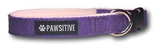 (Pawsitive Pet Hemp Dog Collar - We Donate a Collar for Every Collar Sold. Help a shelter in Need! Solid Color Adjustable Collar Great for Small, Medium and Large Dogs)