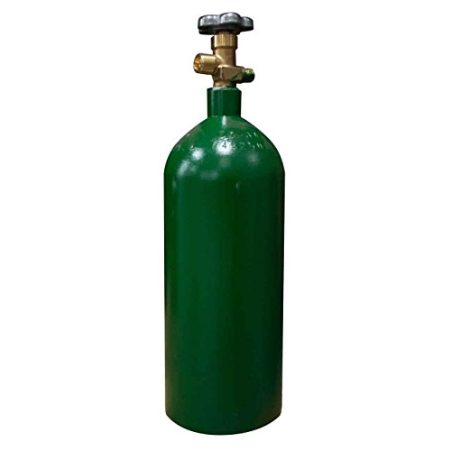 20 cu/ft Oxygen Welding Gas Cylinder Tank CGA 540 - (Parts Oxygen Tank)