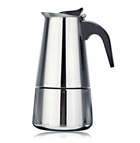 ZIHENGUO Cafetera de Acero Inoxidable Cafetera Italiana Máquina de café Espresso Mocha Cafetera de Goteo Tetera, 100 ML /...