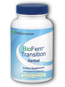 Biogenesis BioFem Transition - DHEA, Pregnenolone, Wild Yam, and Dong Quai to Support Menopause Relief - 60 Veggie Capsules