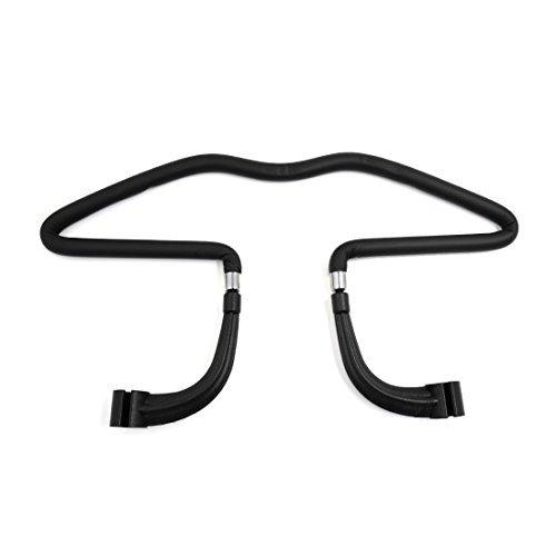 Price comparison product image DealMux Black Rubber Coated Hanger Car Vehicle Seat Headrest Jacket Suit Clothes Bracket