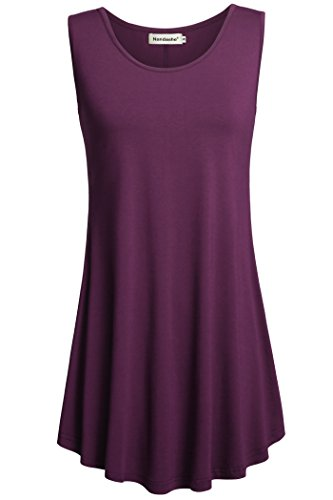 Nandashe Womens Casual Sleeveless Peplum