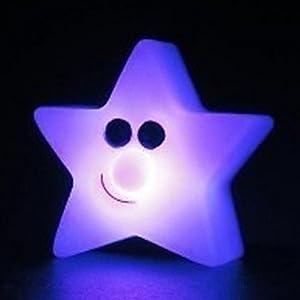 HFJ&YIE& 7.5 * 4CM Stern von Bethlehem Diskus Nachtlicht kreative Energie...