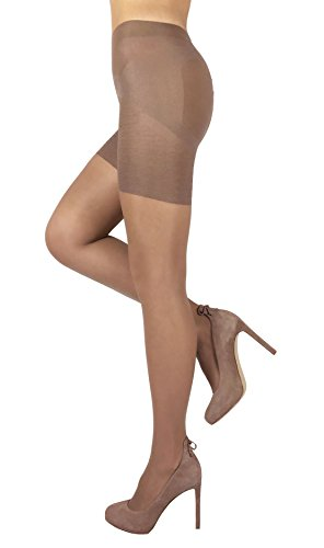 Sheer Shaping Pantyhose Slimming Lifting Shaper Nylon Tights Push Up Effect (2 - Small, (Body Shaping Pantyhose)