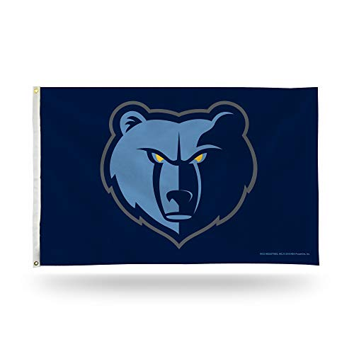 Rico Industries NBA Memphis Grizzlies 3-Foot by 5-Foot Single Sided Banner Flag with Grommets