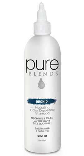 Orchids Blend (Pure Blends Hydrating Color Depositing Shampoo - Orchid (Dark Brown To Black Hair) 8.5 Ounce)
