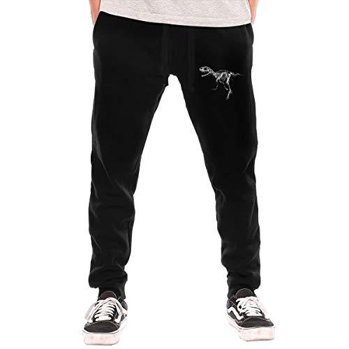 Neon Dinosaur Skeleton Pattern Men's Long Pants Leisure Pants -