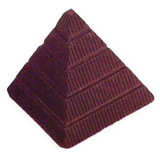 Pirámide de moldes, Silicona moldes de Chocolate, de policarbonato, Transparente, 27,5 x 13,5 x 2,4 cm, 21 Piezas: Amazon.es: Hogar