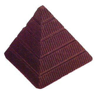 Pirámide de moldes, Silicona moldes de Chocolate, de policarbonato, Transparente, 27,