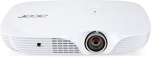 Acer K650i Full HD-LED DLP-Projektor (Kontrast 100.000:1, 1.920 x 1.080 Pixel, 1.400 ANSI Lumen, HDMI/MHL, 4GB interner Speicher und Mediaplayer) weiß