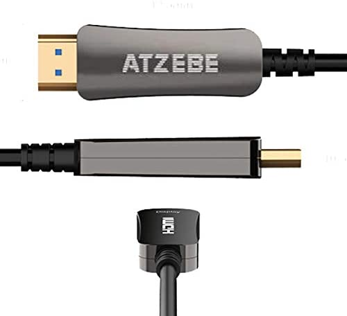 ATZEBE Fiber Optic HDMI Cable 50ft Fiber HDMI Cable Supports 4K60Hz 444422420 HDR Dolby Vision