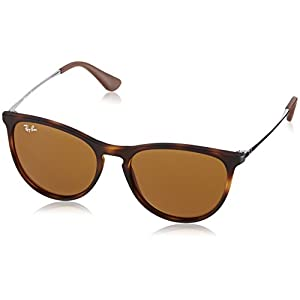 Ray-Ban Girls' Izzy Junior Round Sunglasses, Rubber Havana 700673, 50 mm