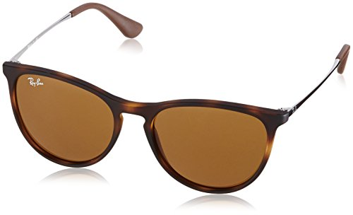 Ray-Ban Girls' Izzy Junior Round Sunglasses, Rubber Havana 700673, 50 - Ban Ray Havana Rubber
