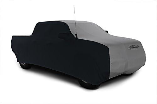 Coverkingカスタムフィット車のカバーRam 1500モデル–サテンストレッチ(グレー、ブラックサイド)