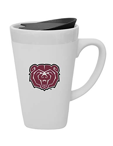 Missouri Swivel - The Fanatic Group Missouri State University Ceramic Mug with Swivel Lid, Design 1 - White