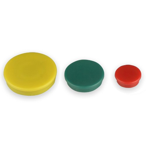 Officemate Assorted Heavy-Duty Magnets, Circles, Assorted Sizes & Colors, 30/Tub (92501) by Officemate (Image #1)