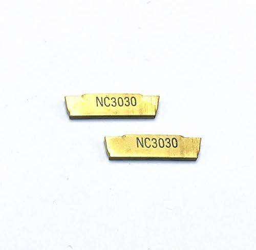 GENERICS LSB-Werkzeuge, 10 STÜCKE MGMN200 G NC3030 Hartmetalleinsatz-Nutenfräswerkzeuge UND CNC-Drehwerkzeug for das Drehen von Metallschneidplatten