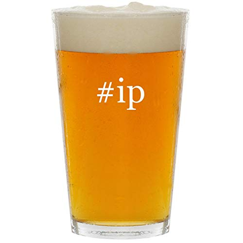 - #ip - Glass Hashtag 16oz Beer Pint