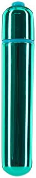 Pure Love 3.5 Inch Vibrating Bullet Teal Color, 3 Speed and Waterproof with Simple One Button Speed Control, A