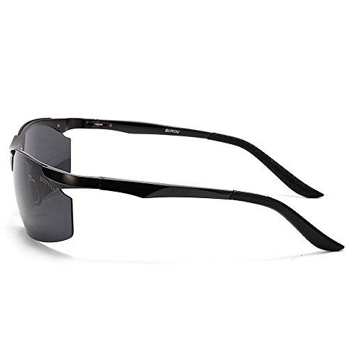 gafas deportes de de al BOYOU hombres aire sol los sol para gafas de negro libre aCtqtvxgw