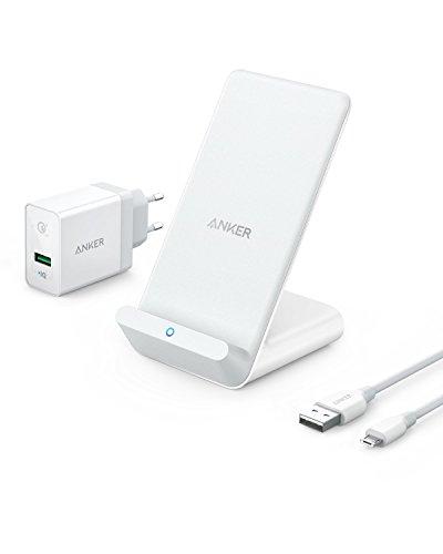 Anker PowerWave 7.5 Ladeständer Wireless Charger, Ladeständer mit innerem...