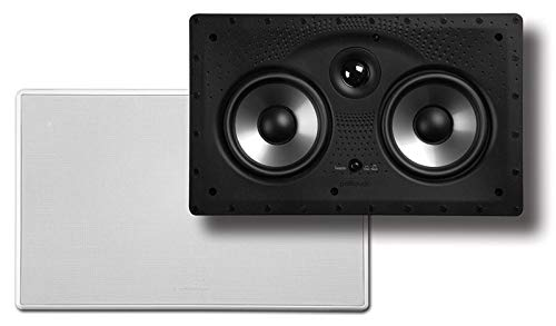 Polk Audio 255c-RT In-Wall Center Channel Speaker (2) 5.25 drivers - The Vanishing Series | Easily Fits into the Wall | Power Port | Paintable Grille