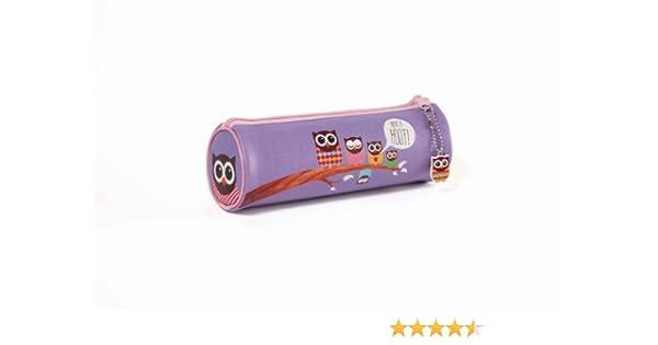 Give a Hoot - Estuche (PVC, formato de tubo, incluye amuleto de búho): Amazon.es: Oficina y papelería