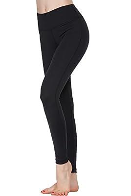 Oalka Women Power Flex Yoga Pants Workout Running Leggings - All Colors