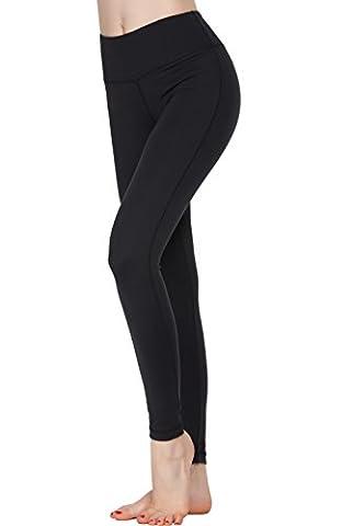 Women Power Flex Yoga Pants Workout Running Leggings - All Colors Black M