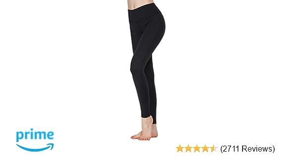 928c8b7ffd Amazon.com  Oalka Women Power Flex Yoga Pants Workout Running Leggings   Clothing