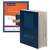 Smead Desk File/Sorter, Alphabetic (A-Z), 20 Dividers, Letter Size , Blue (89282)