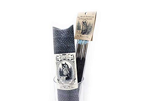 Sea Witch Botanicals Handmade The White Lodge All Natural Plant Based Incense. Non GMO Essential Oils. 50 Sticks Per Pack.