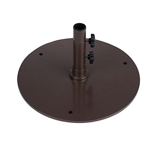 50 lbs Steel Plate Umbrella Base for Patio/Market Umbrellas ()