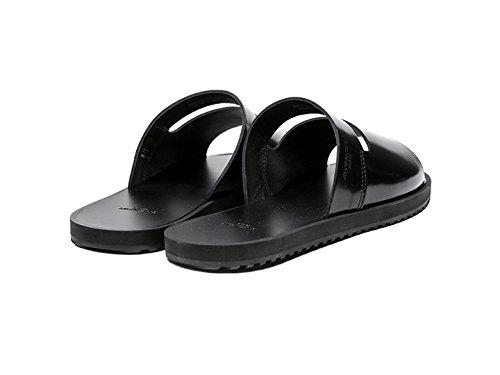 Givenchy-Mens-Engraved-Logo-Detail-Real-Leather-Slide-Sandals